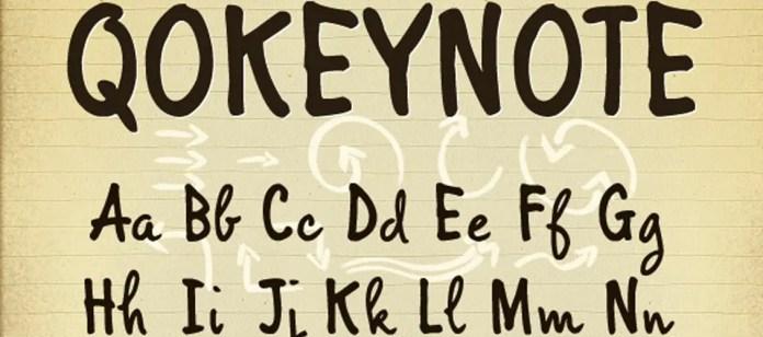 Qokeynote-Handwritten-Casual-Lettering-Font