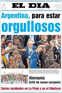 """El Día: """"Argentina, para estar orgullosos"""""""