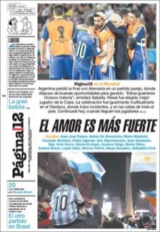 """Página/12: """"El amor es más fuerte"""""""