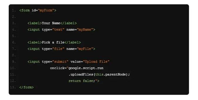 código formulario