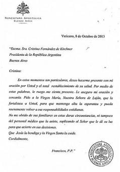 carta francisco a crisitna
