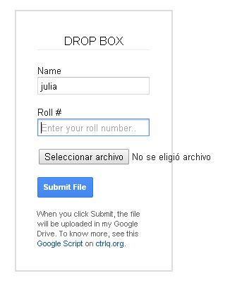 formulario archivo