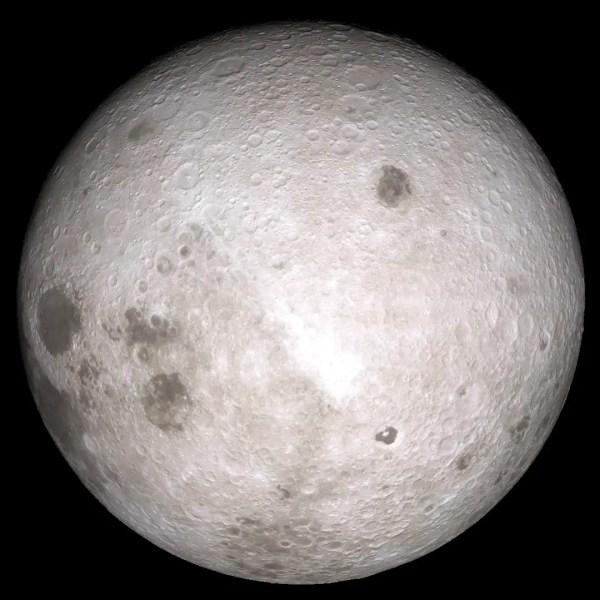 La NASA reveló el lado oscuro de la Luna