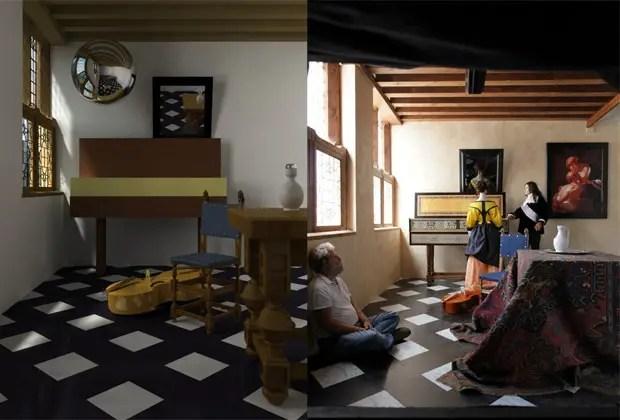 A la izquierda el modelo computarizado, a la derecha la reproducción de Jeninson.
