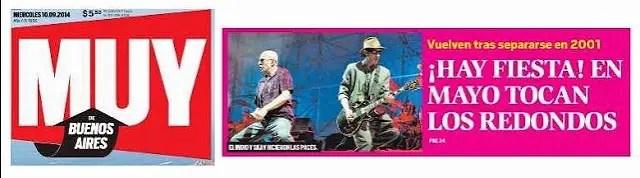 En mayo (de 2015) tocan los Redondos ¡vayan preparándose!