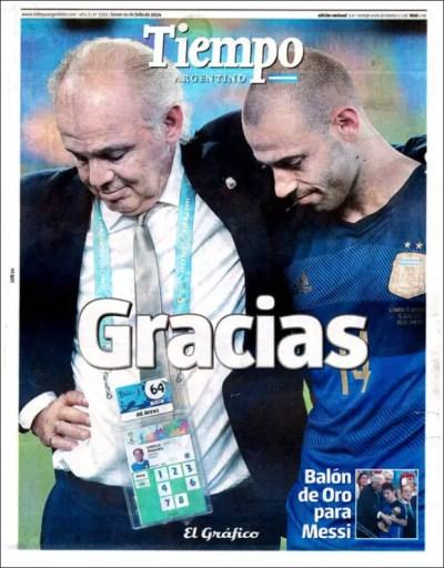 """Tiempo Argentino: """"Gracias"""""""