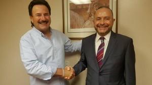 Juan Manuel Gastélum, Alcalde Electo de Tijuana y Fernando Castro Trenti, Embajador de México en Argentina.