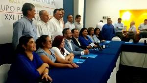 Bancada panista de la XXII Legislatura de Baja California.