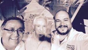 Alcalde Gustavo Sánchez, senador Víctor Hermosillo y Héctor Ibarra Calvo.