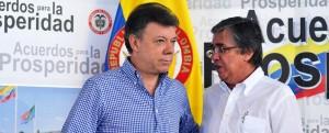 Juan Manuel Santos y su amigo Germán Cardona Gutiérrez, el encargado de facilitar el acercamiento entre Santos y Uribe