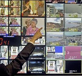 Centro de control de televisión.