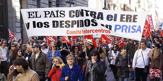 manifestación trabajador@s de El Pais