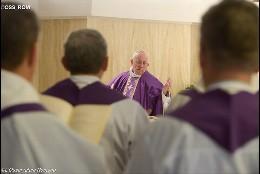 El Papa, en Santa Marta