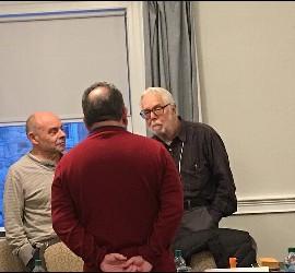 Cox, Berrigan y Figueroa en el Encuentro Iberomaericano