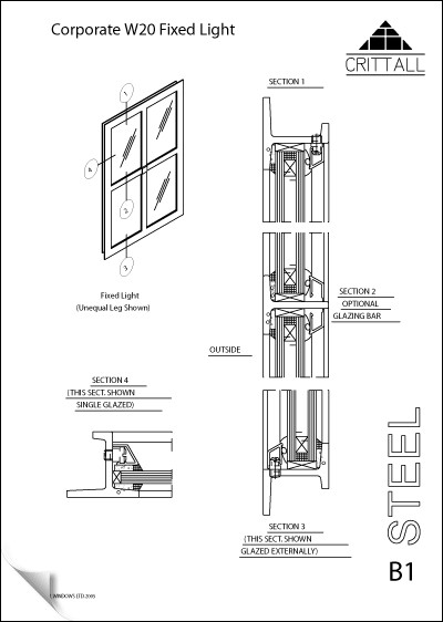 Crittall W20 Sections