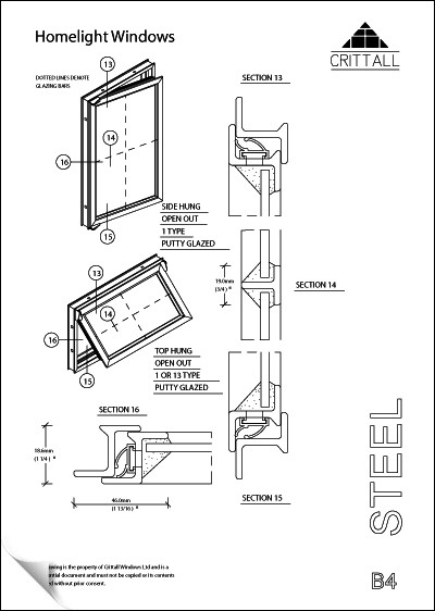 Crittall Homelight Sections