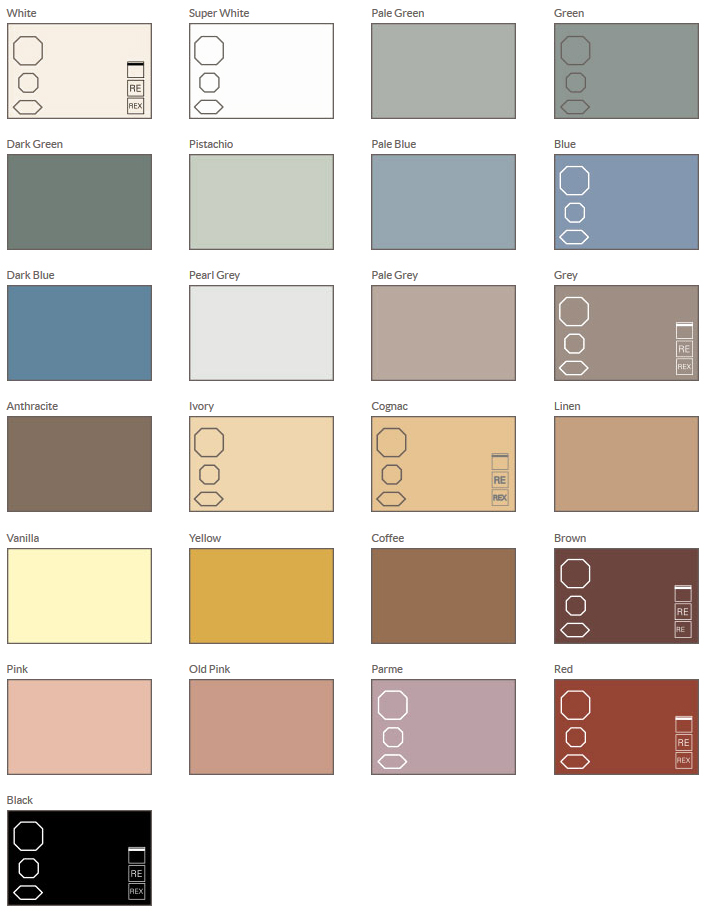 Shape Amp Colour Guide For Olde English Geometric Tiles
