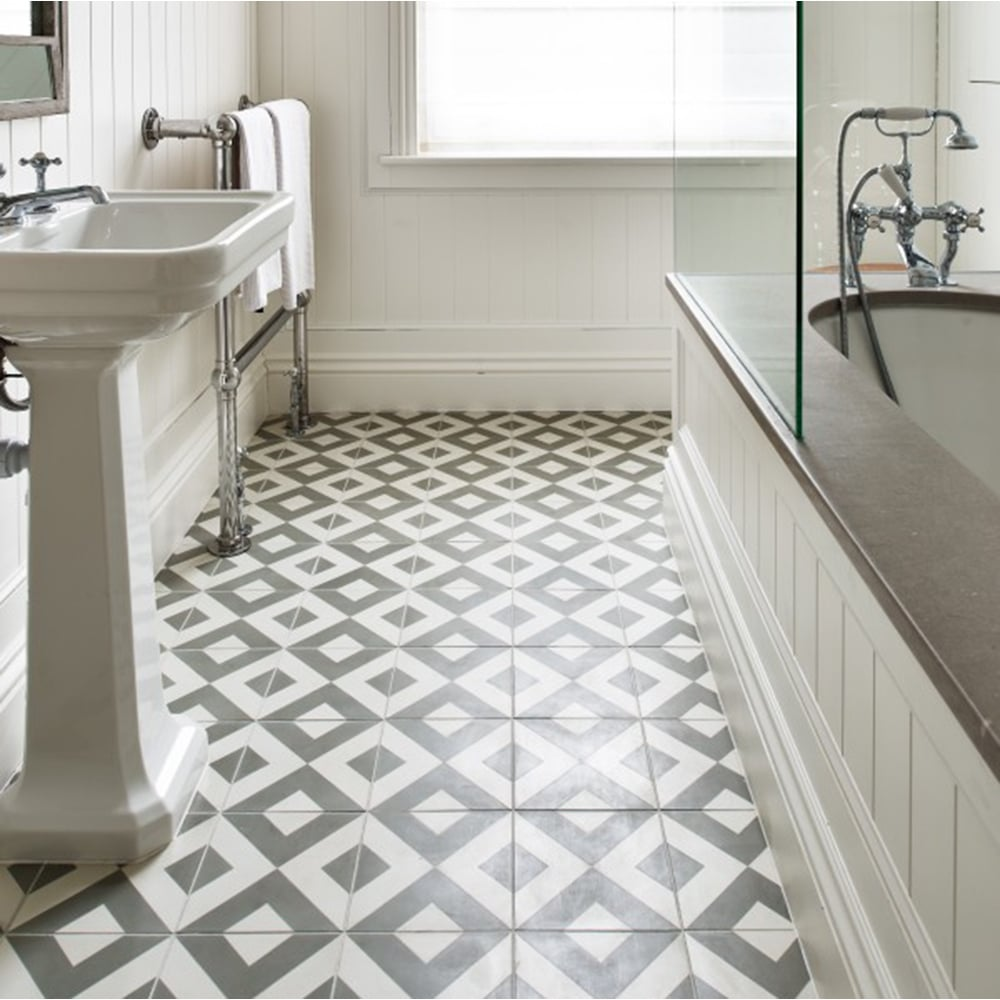 Ca'Pietra Cement Encaustic Modern Harlequin Pattern Tile ...
