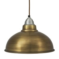 Vintage Style Pendant Light, brass finish with 12 inch shade