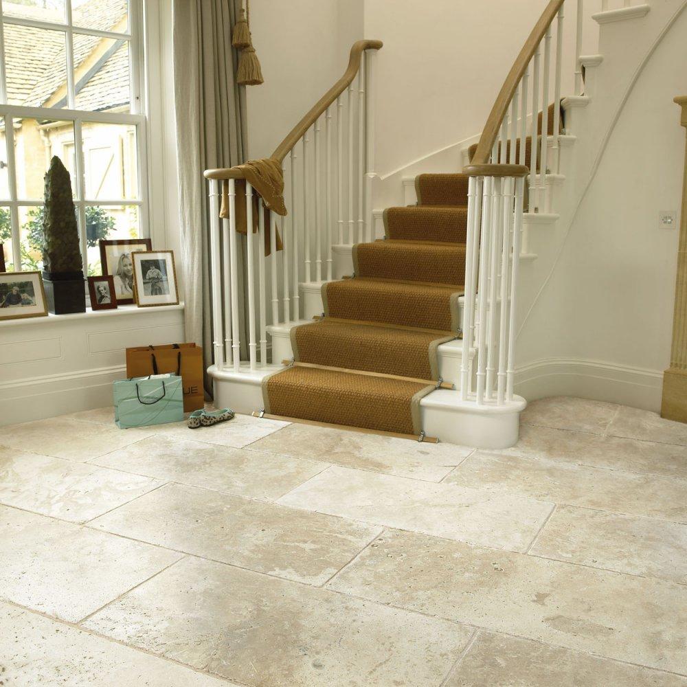 Classical Flagstones Savannah White Travertine Tiles