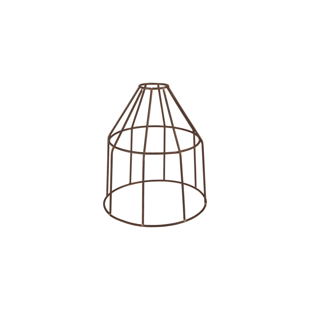 Industville Simple Vintage Rusty Cage Wire Pendant Light