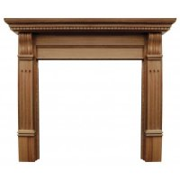 Carron The Corbel Fine Wood Fireplace Surround with Wide ...