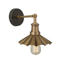 Vintage Industrial Style Brass 8 Inch Umbrella Lamp Sconce