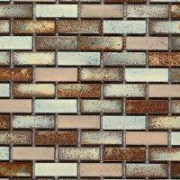 Classical Flagstones Zanzibar Small Brick Mosaic Tiles