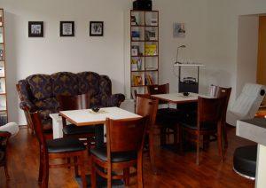 Innenansicht des Periplaneta Literaturcafé, kurz nach dem Umbau
