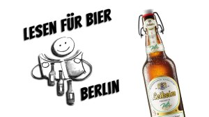 "Robert Rescue + Alina Sprenger @ ""Lesen für Bier"" @ Periplaneta Literaturcafé Berlin"