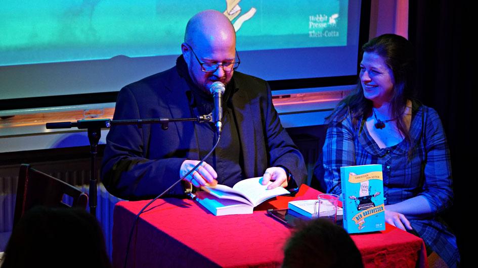 Christian von Aster bei der Buchpremiere zu Neudeutsch 2.0