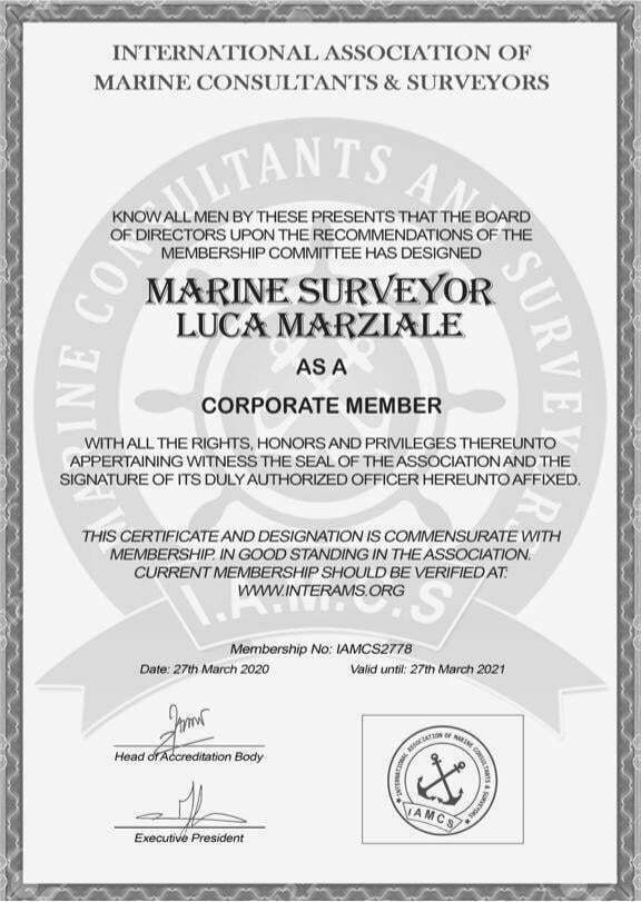 Marine Surveyor Luca Marziale