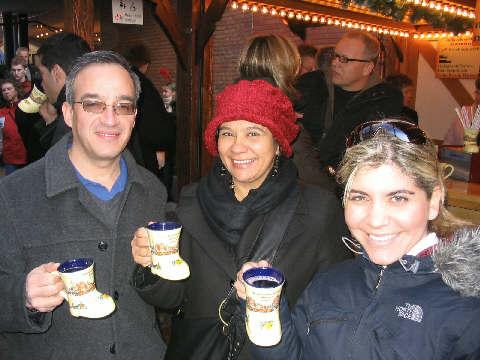 Trio with mugs