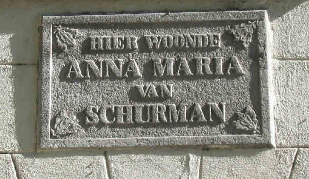 Schurman plaque - Utrecht