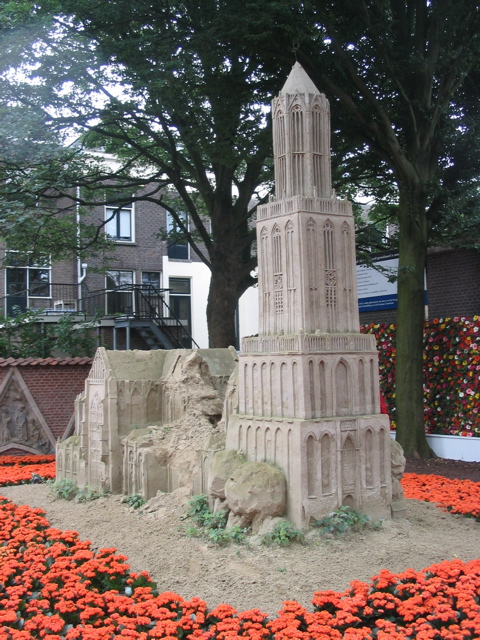 Utrecht Dom Tower in sand