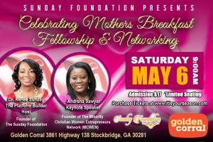 Celebrating Mothers Breakfast Fellowship & Networking @ Stockbridge | Georgia | United States