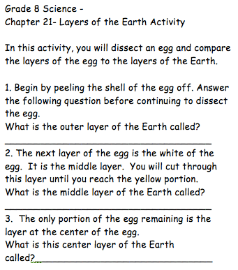 blank diagram of earth s layers 1999 honda accord engine illustrating the through egg dissection second version click to download