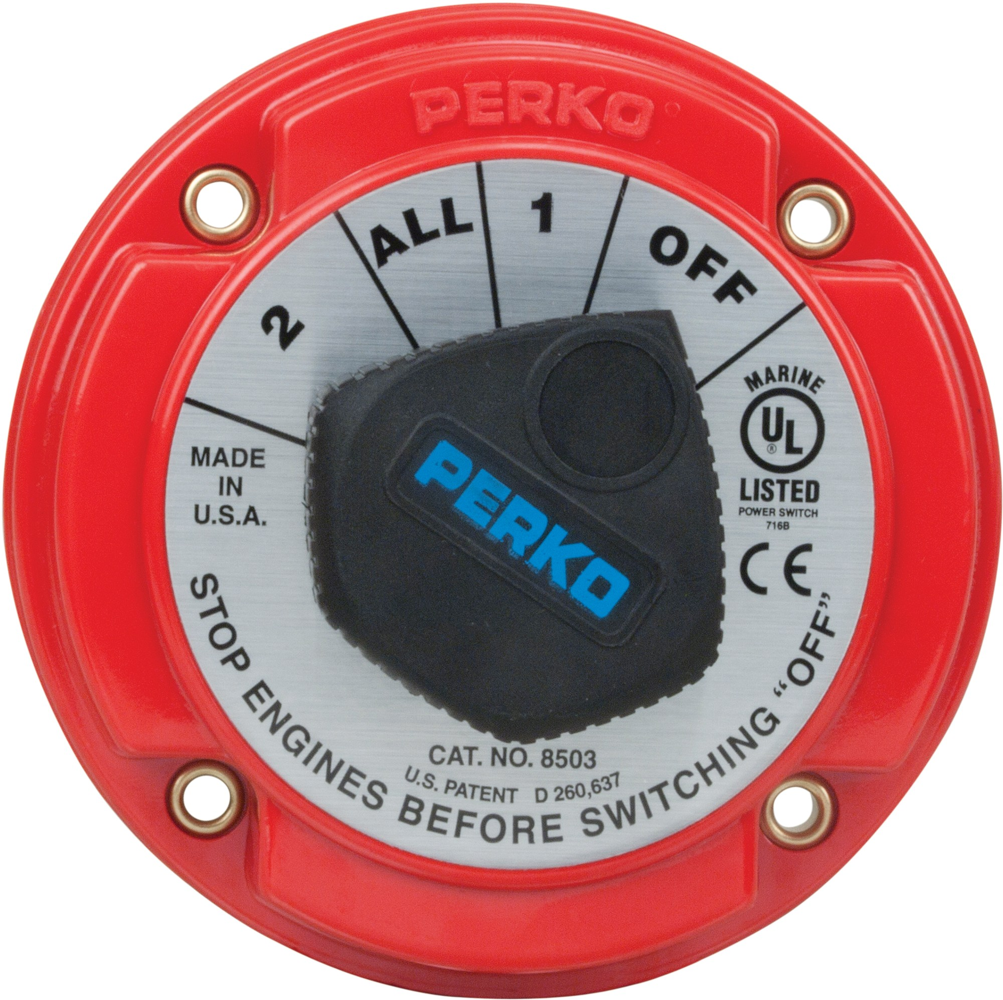 hight resolution of perko inc catalog battery switches medium duty battery selector switch with afd 8503