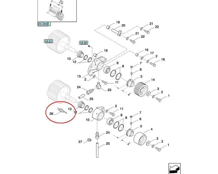 CZUJNIK OBROTÓW M18X30 NEW HOLLAND CASE STEYR 84036824