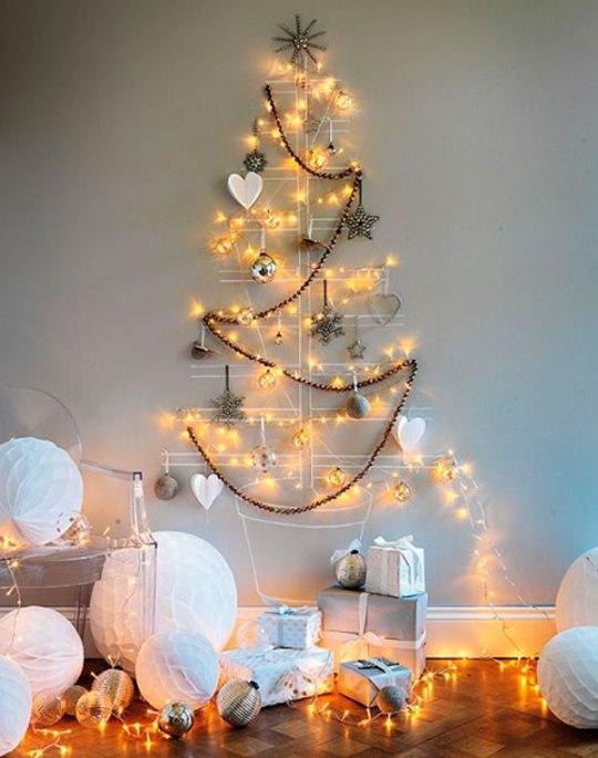 decoración-navideña-arbol-pared
