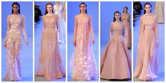 Rosa empolvado Couture Elie Saab