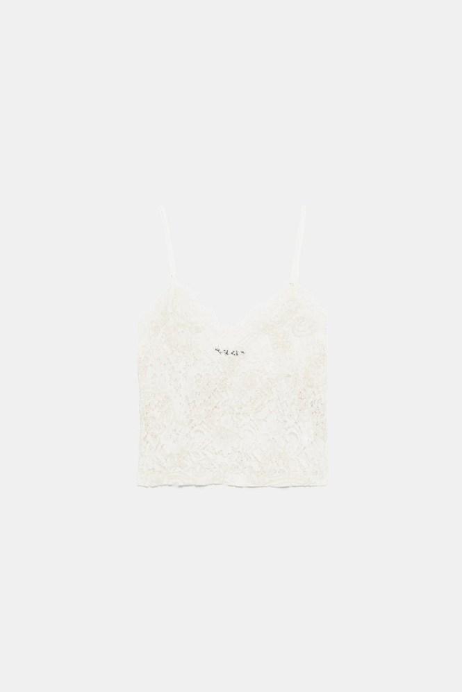Top encaje. 15 Tops por menos de 20€ en Zara