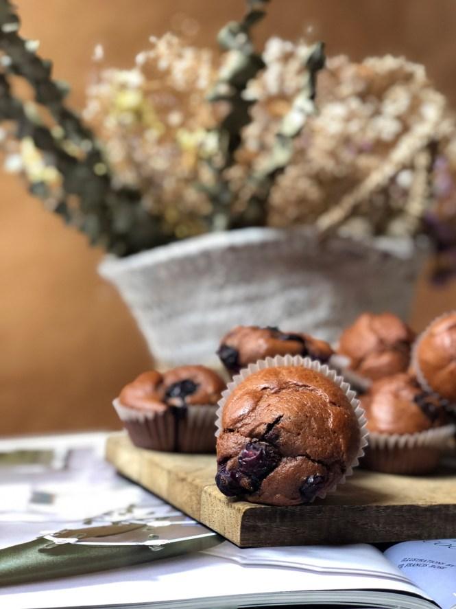 Receta magdalenas de espelta y cacao puro