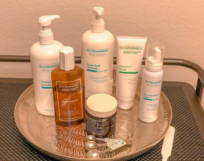 Productos para tratamiento de cabina Green Peel
