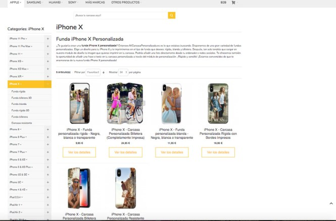 Fundas iPhone X Personalizada
