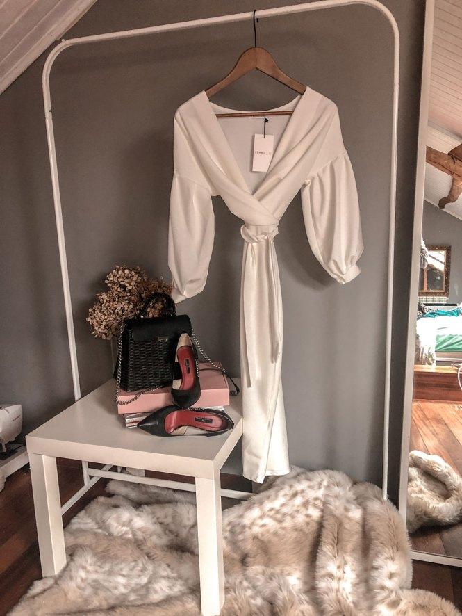 Vestido bodycon blanco