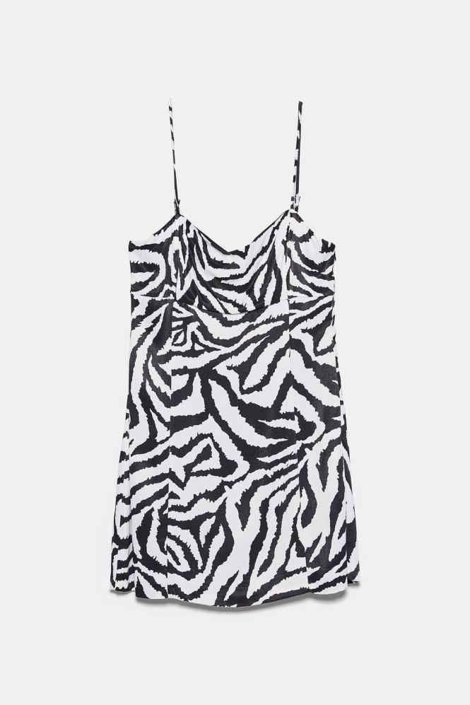 Mini vestido print animal Zara