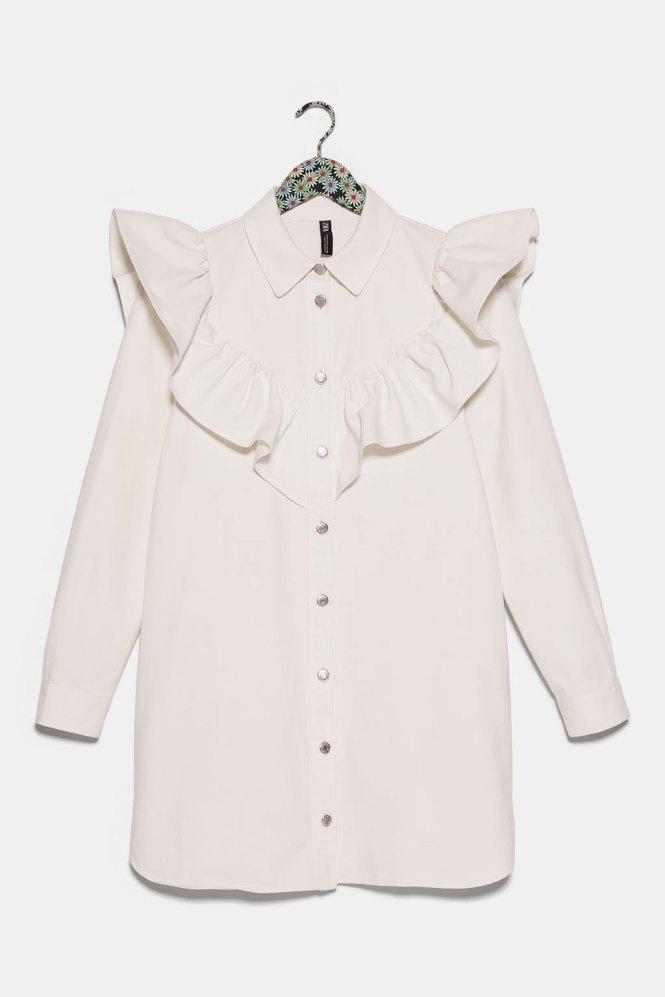 Vestido camisero Zara denim