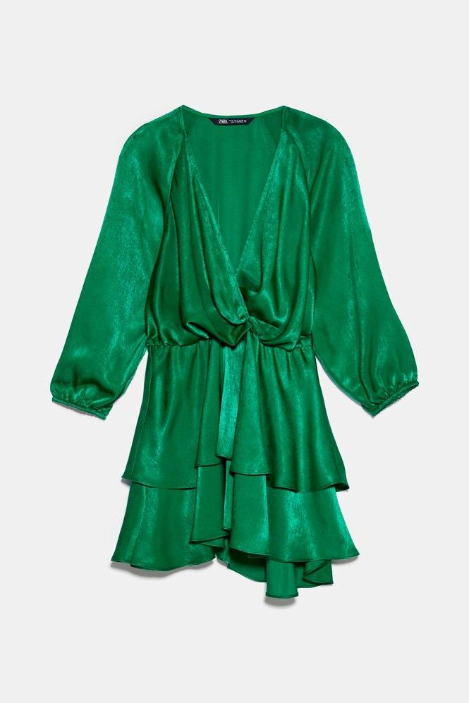 Mini vestido satinado Zara