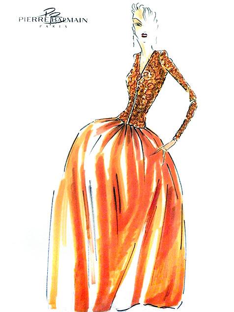 Boceto de Pierre Balmain